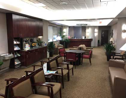 The Surgical Pavilion Front Desk and waiting room